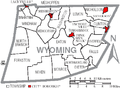 Map of Wyoming County Pennsylvania With Municipal and Township Labels.png