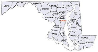 AnexoCondados de Maryland Wikipedia la enciclopedia libre