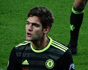 Marcos Alonso Mendoza - Alonso playing for Chelsea in 2017
