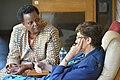 Margaret Karembu, of ISAAA, and Gabrielle Persley at BecA-ILRI Hub 15-year anniversary.jpg