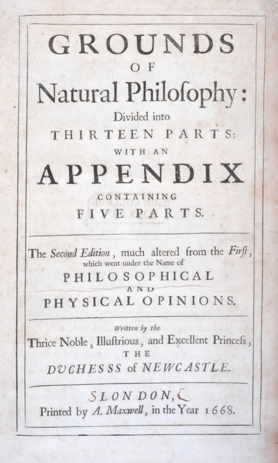 Margaret Newcastle 1668 Grounds of Natural Philosophy RGNb10347549.02.tp