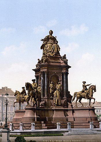 Maria Theresa Monument, Vienna, Austro-Hungary...