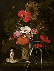 Flowers in an Ornamental Vase