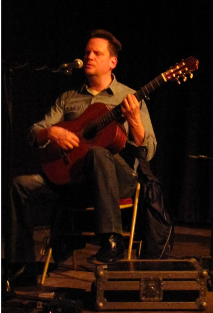 Mark Kozelek performing with Sun Kil Moon in Paris in 2014 Mark Kozelek Sun Kil Moon Paris 2014.png