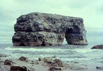 Marsden Rock - In 1969, from the south