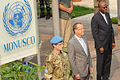 Martin Kobler, new SRSG in the D.R. Congo, arrives at MONUSCO HQ in Kinshasa to assume his duties, 13 August 2013. (9501220987).jpg
