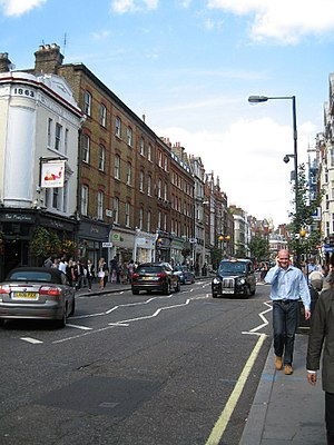 Brick and mortar - Brick and mortar retail stores on Marylebone High Street, London