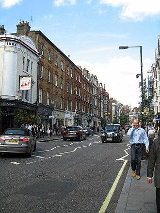 Brick and mortar - Brick and mortar retail stores on Marylebone High Street, London