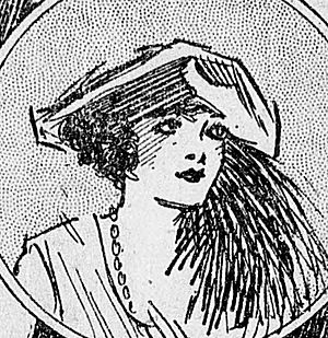Mary Philips -  Drawing of Mary Philips from a 1922 newspaper.