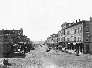 Lawrence, Kansas - Massachusetts Avenue, ca. 1867