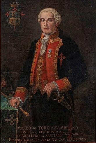 Mateo de Toro Zambrano, 1st Count of La Conquista - Image: Mateo de Toro y Zambrano
