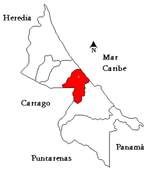 Matina (canton) - Matina canton in Limón province