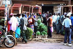 Matoke - Matoke market in Kampala, Uganda