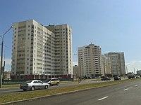 Matusevich street in Minsk, Belarus.jpg