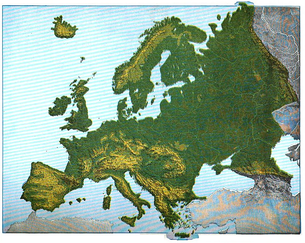 Maury Geography 101A Europe relief