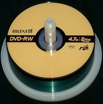 DVD recordable - DVD-RW discs on a spindle
