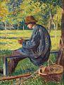Maximilien Luce - Ludovic Rodo Pissarro dans le Jardin de son père à Eragny (1895).jpg