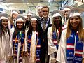 Mayor Eric Garcetti congratulates students at Dorsey High School on their graduation (14197800520).jpg