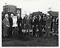 Mayor John F. Collins at the groundbreaking for a new addition to the South Postal Annex (13847862624).jpg