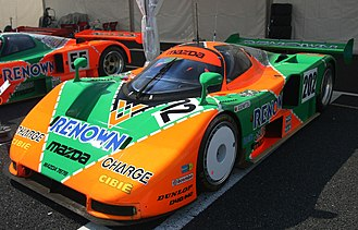 Mazda 787B - The 787B-003 (No. 202 in the JSPC) was built after the 1991 Le Mans. After a while, the chassis was remodelled for the short distance and the headlamps were removed to save weight.