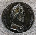 Medaglione di commodo, 184 dc, (verso ercole che si incorona), bronzo e oricalco.JPG