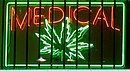 A sign for medical marijuana