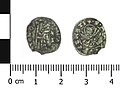 Medieval coin, soldino of Michel Steno (Obverse and reverse). (FindID 767787).jpg