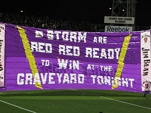 English: Banner of the Melbourne Storm