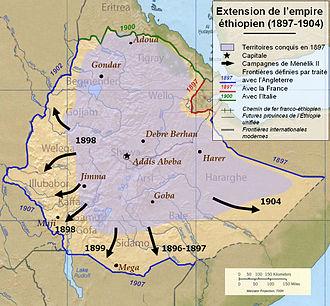 Menelik II - Menelik's campaigns 1897–1904