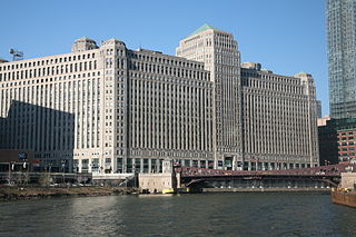 Merchandise Mart Commercial building in Chicago, Illinois, USA