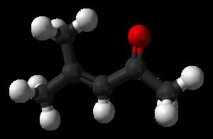 Mesityl oxide - Image: Mesityl oxide 3D balls