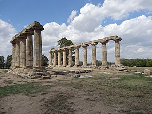 Basilicata - Metaponto, the Temple of Hera
