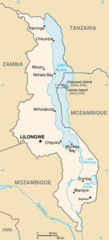 Malawi-Geografi-Fil:Mi-map