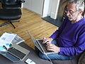 Michael Rosen recording Listening Lions (6) (14310644518).jpg