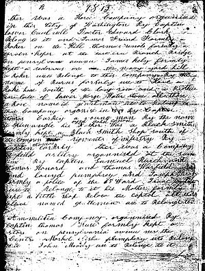 Michael Shiner - A page from Michael Shiner's diary, 1813