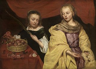 Two Girls as Saint Agnes and Saint Dorothea