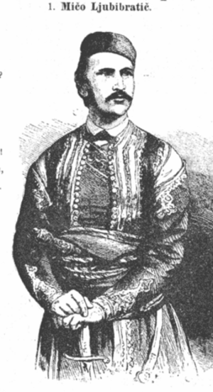 Mićo Ljubibratić - Image: Mico Ljubibratic 1875 Hum L