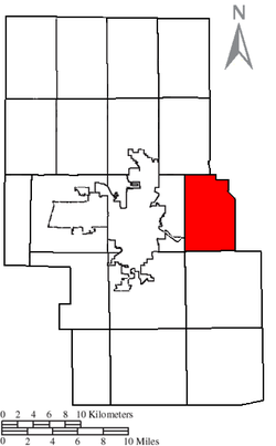 Location of Mifflin Township in Richland County