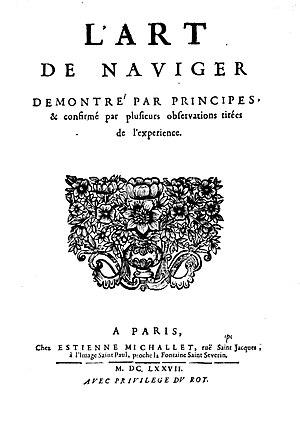 Claude Dechales - Art de naviguer, 1677
