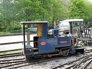 "Exmoor Steam Railway - Image: Miniature locomotive ""Merlin"" (geograph 1854299)"