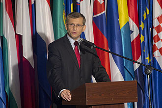 European Day of Remembrance for Victims of Stalinism and Nazism - Minister of Justice of Poland Krzysztof Kwiatkowski during the official ceremony marking the European Day of Remembrance for Victims of Stalinism and Nazism for the first time in Poland on 23 August 2011
