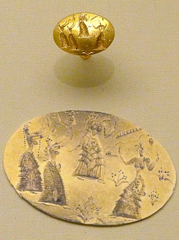 Minoan seal ring from Isopata