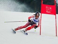 Alpin skiløber (Mirjam Puchner) under en turnering.