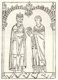 Miro, Suevic king of Galicia, and Martin of Braga.png