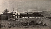 Mission San Diego de Alcala in 1848