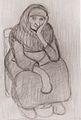 Modersohn-Becker - Sitzende Bäuerin mit Feuerkieke - 1903-04.jpeg