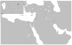 carte détaillant le champ de bataille de Yarmouk