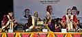 Mohd. Hamid Ansari being presented a memento by the Governor of Jammu & Kashmir & Chancellor, Shri Mata Vaishno Devi University, Shri N.N. Vohra at the fourth Convocation of Shri Mata Vaishno Devi University, at Katra.jpg