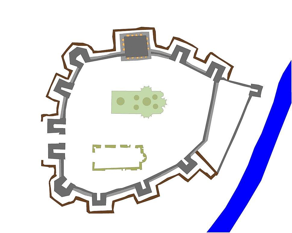 Monastery Resava in Serbia plan
