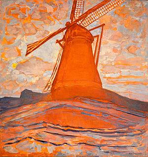 Laren School - Piet Mondriaan (1917): The Windmill - Steddijk Museum, Amsterdam.